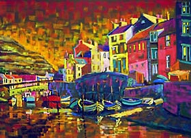 A pastel picture called Staithes in Colour